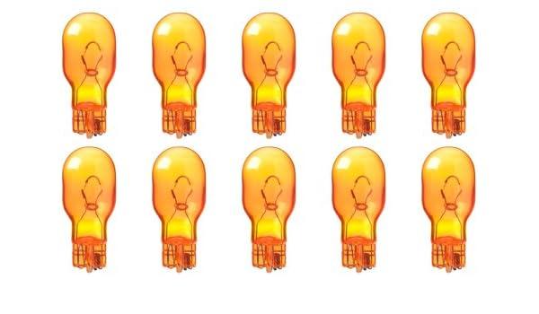 Box of 10 Amber Bulbs 12.8 V 17.92 W W2.1x9.5d CEC Industries #921NA