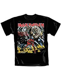 Iron Maiden T Shirt Number of The Beast Album Cover Logo Official Mens New Black