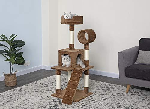 Go Pet Club F76 Tree Condo Scratcher Post Pet Bed Furniture, 50-Inch, Brown