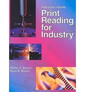 Print reading for industry instructors walter c brown ryan k print reading for industry teachers guide by brown walter c fandeluxe Images