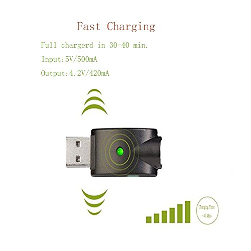 Ego Smart USB Charger for 510 Thread USB Charging with Overcharge Protection 2- Pack (wireless)