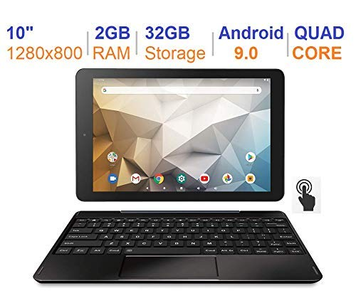 RCA Atlas 10 Pro (RCT6B06P23H) 10 Inch Android 9 Tablet with Keyboard Black (Renewed)