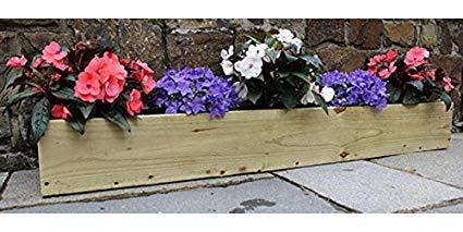 2 Handmade Wooden Window Box Flower//Herb  Pot Planter 80 cm