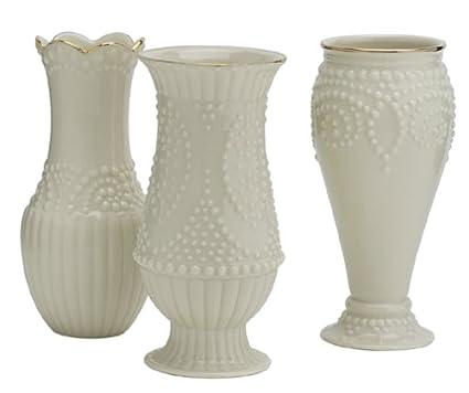 Amazon Lenox Classic Beaded Vases Set Of 3 Decorative Vases