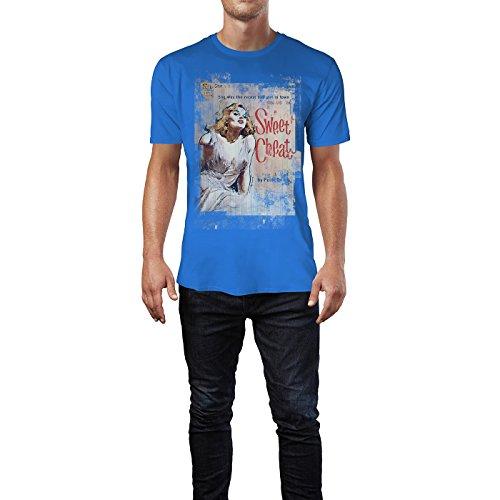 SINUS ART® Swee Cheat Herren T-Shirts stilvolles royal blaues Fun Shirt mit tollen Aufdruck