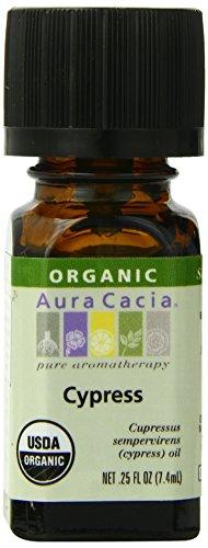 Oil Cacia Aura Aromatherapy Massage - Aura Cacia Organic Essential Oil, Cypress, 0.25 Fluid Ounce