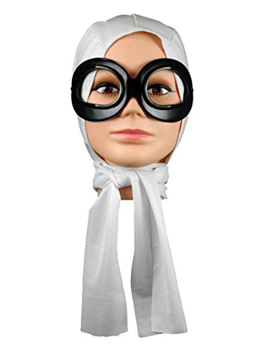 Forum Novelties Amelia Earhart Scarf and Goggle Set -