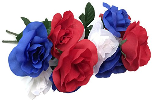 Red, White and Blue Floral Garden Patriotic Flower Bushes, 16.25 in. (Roses)