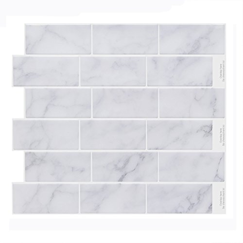 Vamos Tile Premium Peel and Stick Tile Backsplash,Self Adhesive Wall Tiles for Kitchen & Bathroom-11.2