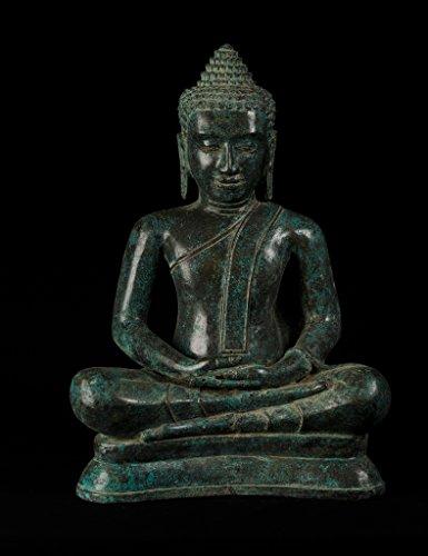 - HD Asian Art Antique Thai Style Bronze Seated Meditation Buddha Statue