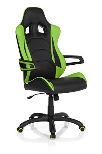 hjh OFFICE 621884 Gaming Stuhl / Bürostuhl RACER PRO I Kunstleder schwarz/grün