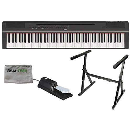 Yamaha P-125 88-Key Hammer Action Black Digital Piano