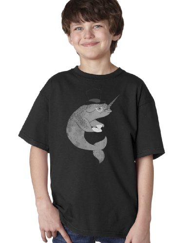 MR. FANCYPANTS SIR NARWHAL Youth Unisex T-shirt / Reddit Digg 4Chan Smug Whale
