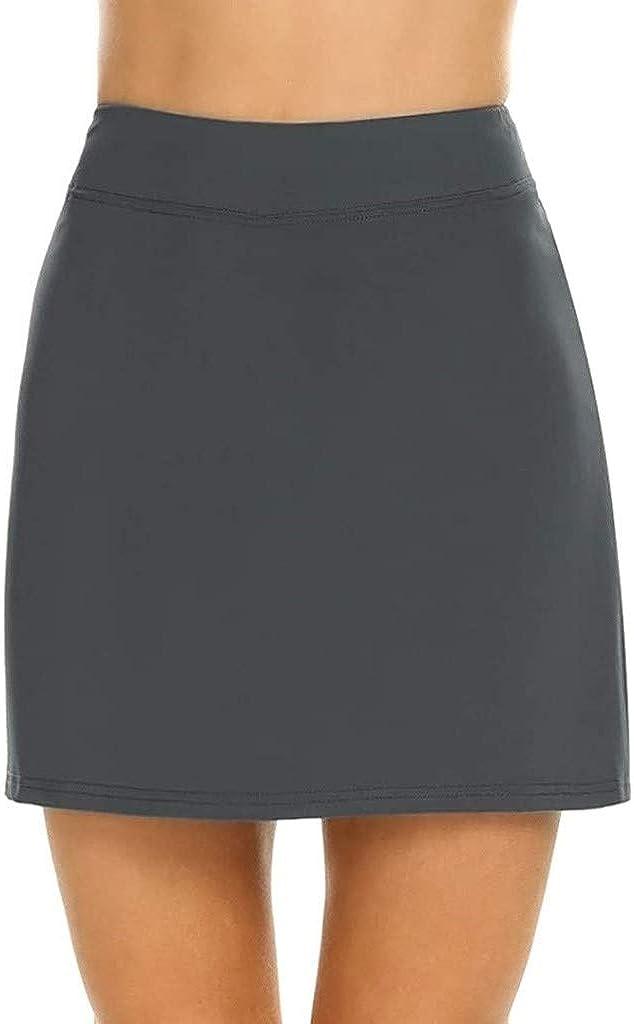 BOLANQ Vêtements Falda Ligera de Rendimiento Activo para Mujer para Correr Tenis Golf Deporte