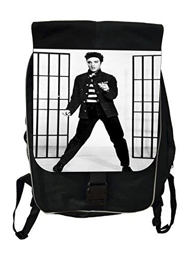 Elvis Presley Jailhouse Rock - Black School Backpack (Buckle Elvis)