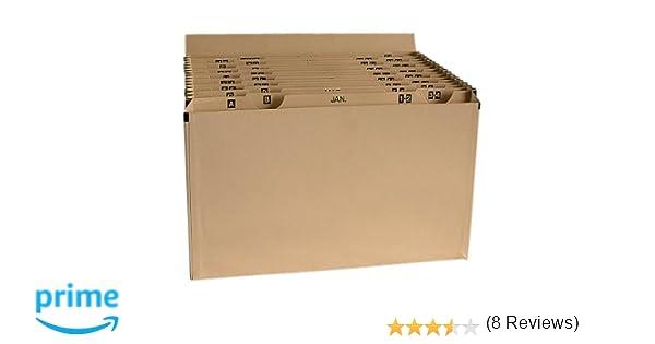 Clasificador de fuelle, compartimentos de planificación mensual (del 1 al 31) y de la A a la Z: Amazon.es: Informática