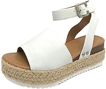 Thenxin Women`s Espadrilles Platform Sandals Adjustable Ankle Strap Open Toe Casual Summer Sandal / Thenxin Women`s Espadrilles Platform Sandals Adjustable Ankle Strap Open Toe Casual Summer Sandal