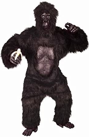 Forum Furry Friends Deluxe Gorilla Suit with Molded Chest, Black, One Size Costume