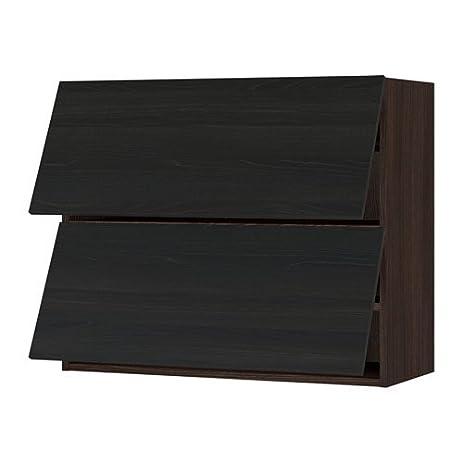 Ikea Horizontal Wall Cabinet W/2 Doors, Brown, Tingsryd Black 36x15x30  U0026quot;
