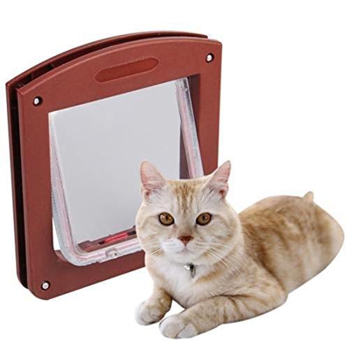 Kunststoff 4 Way Hund Katze Kleintiere Locking T¨¹rklappe wasserdichte Mini B¨¹rsten Rand Einzigartige