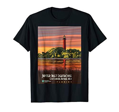 Jupiter Inlet Lighthouse - Vintage poster - Jupiter Inlet Lighthouse Retro T-Shirt