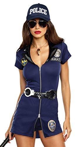 Dreamgirl Women's S.W.A.T. Team, Blue, Small