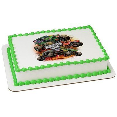 Whimsical Practicality Monster Jam Monster Trucks Edible Icing Image (1/4 -