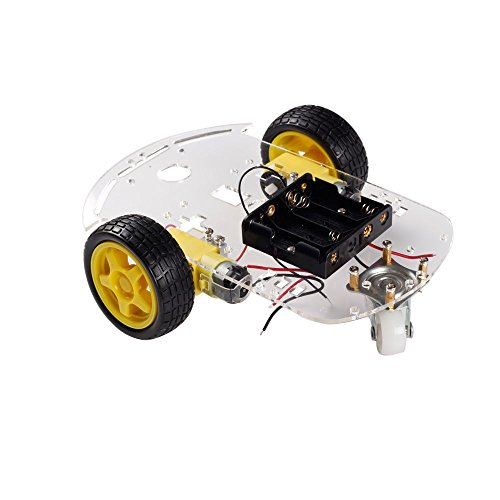 KEYES Robot inteligente Motor Car Kit chasis codificador de velocidad de la caja de la batería para Arduino -CN#b4err4-GR4e...