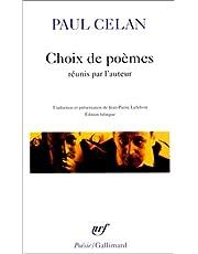 CHOIX DE POÈMES (ED.BILINGUE)