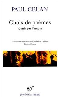 Choix de poèmes par Paul Celan