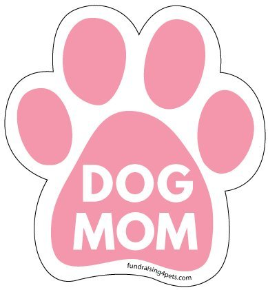 Dog Mom Paw Print Magnet