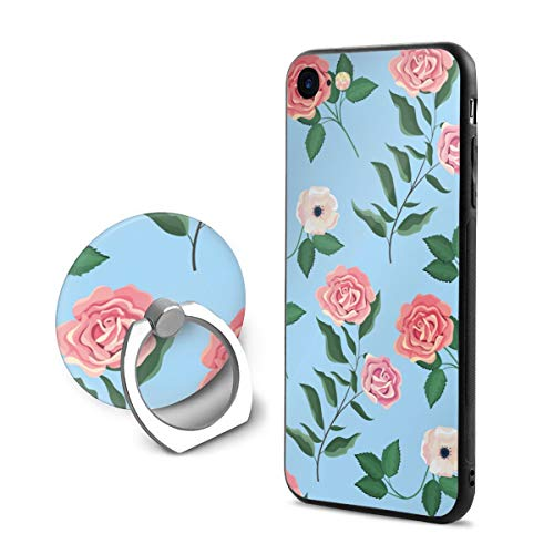 Wild Pedestal Metal Rose (Exotic Wildflowers and Roses Case and Mobile Phone Stand Iphone8,iphone7 Case,Iphone8 case,Shock-Absorption & Skid-Proof Anti-Scratch Case for Apple Iphone7/8)