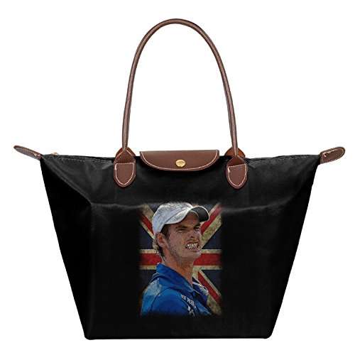 Andy Murray British Flag Women's Stylish Waterproof Hobo Bag Large Tote Shoulder Handbag (Tennis Player Costumes)