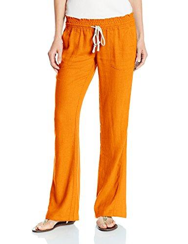 Roxy Women's Oceanside Pant Elastic Waist Non Denim Pants, Persimmon, Medium -