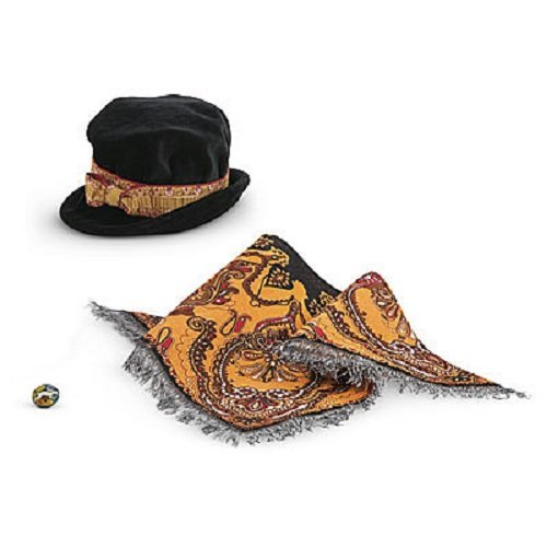 Accesorios de American Girl Rebecca's Hat, Russian Shawl & Grandmother's Pin de Mattel