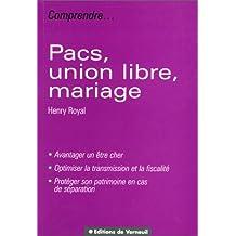 PACS, union libre, mariage