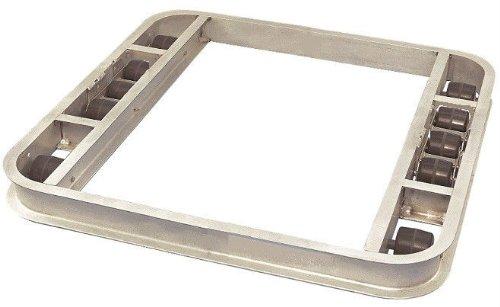 Pallet Dollie 48'' x 48'' 10 Rollers Reinforced Aluminum Tilt Easy Turn 8000# Cap