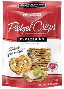 PRETZEL CRISPS 7.2oz bag EVERYTHING (Pack of 4) by Pretzel Crisps ()