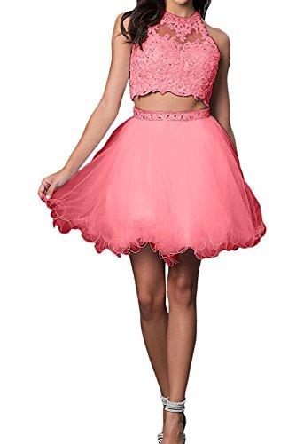 Kleider Braut Kurzes Marie Jugendweihe Abendkleider Damen La Cocktailkleider Wassermelon Brautjungfernkleider Mini qfT5c0qO