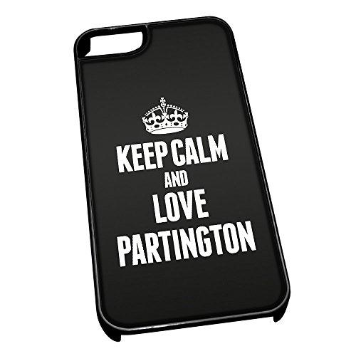 Nero cover per iPhone 5/5S 0483nero Keep Calm and Love Partington