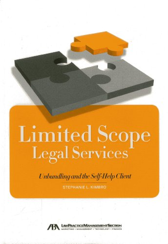 Shop online Limited Scope Legal Services: Unbundling and the Self-Help Client