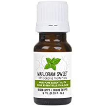 Marjoram Sweet Essential Oil 10 ml (0.33 fl. Oz.) - GCMS Tested, 100% Pure, Undiluted and Therapeutic Grade