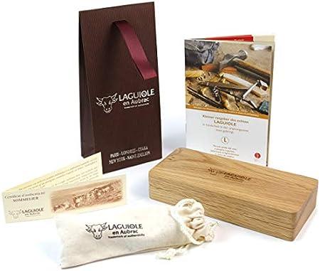 LAGUIOLE en Aubrac - Sacacorchos profesional para camareros, madera de raíz ennegrecida