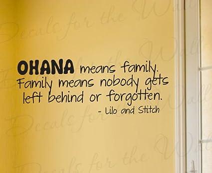 Lilo and Stitch Ohana Family Disney - Girl\'s or Boy\'s Room Kids Baby ...