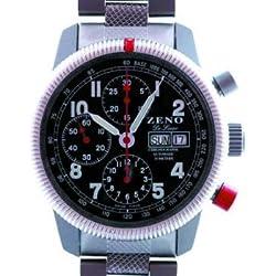 Zeno Army Divers De Luxe Tri-Compax Chronograph Ref. 6559 A-SV-MT