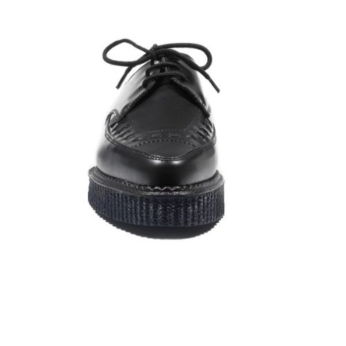 Underground - Creepers à lacets en cuir Barfly - bout pointu - femme - noir