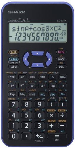 Sharp EL531 Wissenschaftlicher Taschenrechner violett