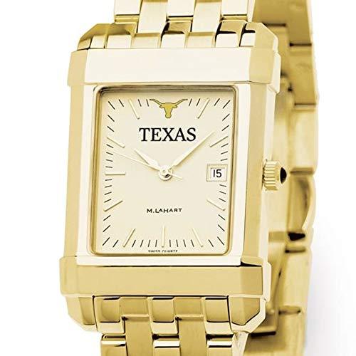 Texas A&m Wrist Watch - M. LA HART Texas Men's Gold Quad Watch with Bracelet