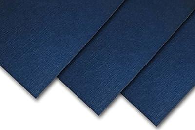 Sundance Royal Linen Midnight Blue 80# Cover 8.5x11 - 25 Sheets