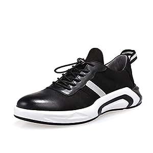 9782f37060c77 YAN Zapatos para Hombres Zapatos Deportivos de Cuero Casuales Zapatillas de  Running Gimnasio Athletic Zapatillas Blancas